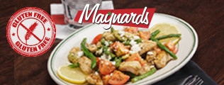 Maynards Gluten Free Menu