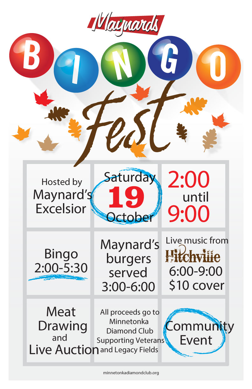 Maynards Bingo Fest Saturday, Oct. 19 2013